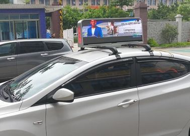Cina Dual Sides Programmable Taxi Led Display, IP65 Level Rgb Taxi Led Screen pemasok
