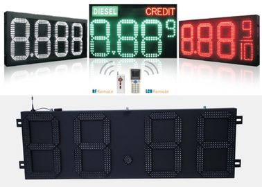 Cina Gas Station Digital Led Gas Price Signs Dengan Controller Remoter, Wide Viewing Angle Distributor