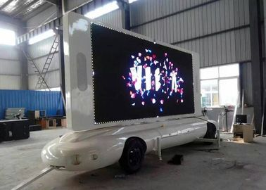 Mobile Led Screen Trailer dengan Waterproof Commercial Moving LED Advertising Display