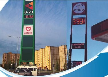 Cina Single Color LED Fuel Price Signs / Mobile Electronic Message Boards steel Cabinet Distributor