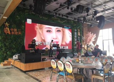 Cina Thin P4 Indoor Led Video Wall Rental , Led Video Screen For Advertising pabrik