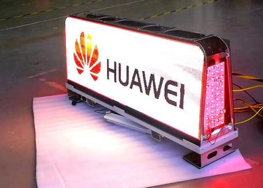 Cina 1/12 Scan Outside Led Taxi Sign / Car Led Sign Display High Brightness pabrik
