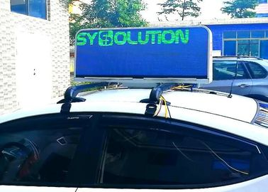 Cina Mobile Advertising Taxi Top Led Display , Waterproof Full Color Led Sign For Car Distributor