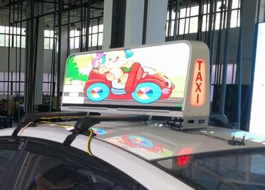 Cina IP66 Protection Taxi Top Led Sign Media Advertising, Led Taxi Display Long Life Distributor